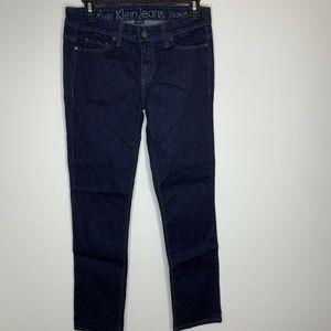 Calvin Klein Jeans Womens Size 27/4 Dark Straight